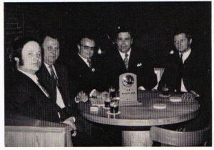 """Gründungsfoto der Tischgemeinschaft """"Die Radschläger"""" im November 1971"""
